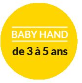 pastille baby hand